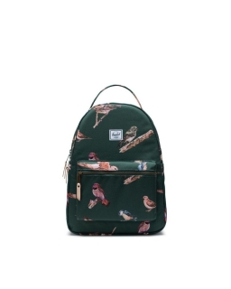 Batoh HERSCHEL Nova Mid-Volume Dark Green Birds