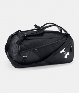 Taška přes rameno Under Armour Contain Duo MD Duffle BP-BLACK