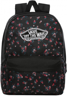 Dámský batoh VANS REALM BACKPACK BEAUTY FLORAL BLACK