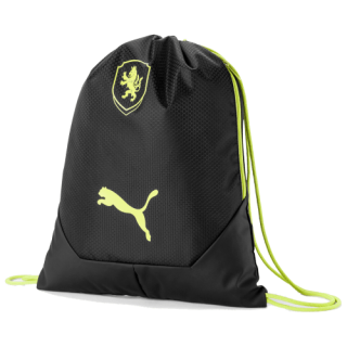 Vak PUMA FACR FINAL GYM SACK BLACK LIMEPUNCH