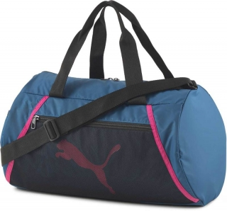 Taška přes rameno PUMA AT ESS BARREL BAG DIGI BLUE BLACK PINK